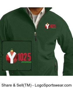Y1025 Christmas Music Station Zip Fleece Design Zoom